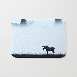 The moose - minimalist landscape Bath Mat