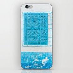 Two Blue Shuttered Windows iPhone & iPod Skin