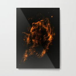 Mrs.Grizzly Metal Print