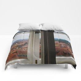 Through the Windows of Prague Castle Comforters