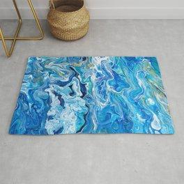 Elegant Crazy Lace Agate 6 - Ocean Blue Rug