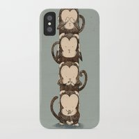 totem iPhone & iPod Cases featuring totem by Caramela