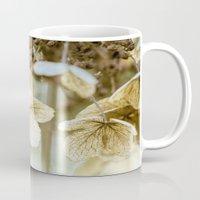 hydrangea Mugs featuring hydrangea by Bonnie Jakobsen-Martin