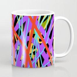 Layered Bright Swirling Abstract Coffee Mug