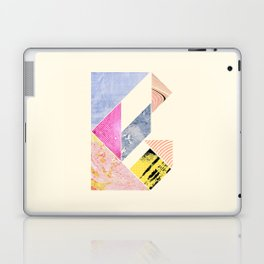 Collaged Tangram Alphabet - B Laptop & iPad Skin