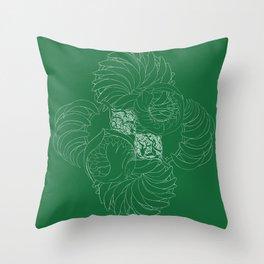 A Kelp Swirl's Throw Pillow