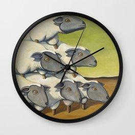 Sheep Stack Wall Clock
