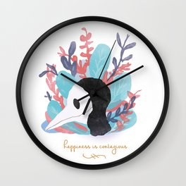 Happiness is Contagious Wall Clock