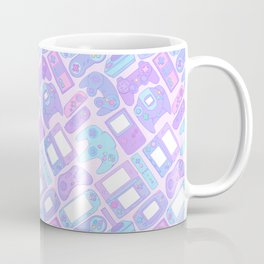 Video Game Controllers in Pastel Colors Coffee Mug