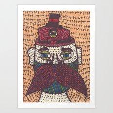 Mustache. Art Print