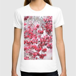 Icy Rowan Red Berries Winter Scene #decor #society6 #buyart T-shirt