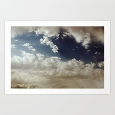 Clouds Were Having The Blues Today Art Print