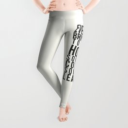 Everyone brings joy to this house, dark humour quote, home, love, guests, family, leaving, coming Leggings