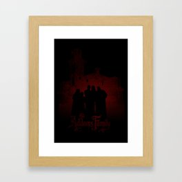 The Addams Family red version Framed Art Print