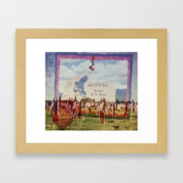 Land Of The Free Because Of The Brave Framed Art Print