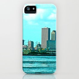 New Orleans Skyline (video game graphic style) iPhone Case