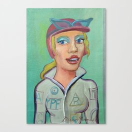 girl in pilot costume 2 Canvas Print