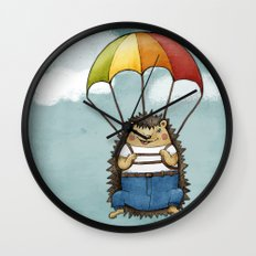 The Brave Hedggie Wall Clock