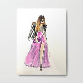 streetstyle Motojacket Metal Print