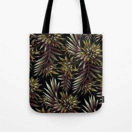 Aechmea Fasciata - Dark Green / Brown Tote Bag