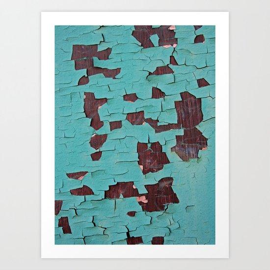 A Peeling Paint Art Print