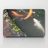 koi fish iPad Cases featuring Koi Fish by Elizabeth Boyajian