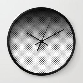 White- black Ombre 2 Wall Clock