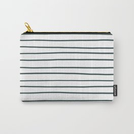 PPG Glidden Night Watch 1145-7 Hand Drawn Horizontal Lines on Pure White Carry-All Pouch