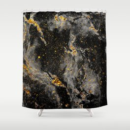 Galaxy (black gold) Shower Curtain