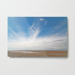 Pegasus Cloud Beach Metal Print