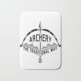 Archery the Traditional Way Bow and Arrow Bath Mat