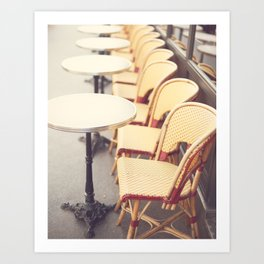 Paris Cafe, Classic Parisian coffee chairs Art Print