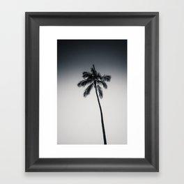 palm tree ver.black Framed Art Print