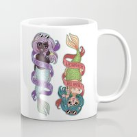patriarchy Mugs featuring ♀ Crush the patriarchy ♀ by ♡ SUSHICORE ♡