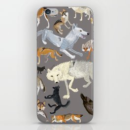 Wolves of the world 1 iPhone Skin