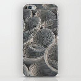 White spiraled coils iPhone Skin