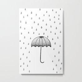 In The Rain Metal Print