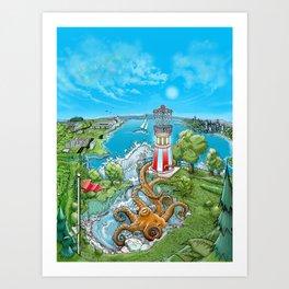 Disc Golf - Lake Monster Art Print