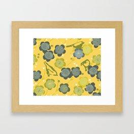 Birds & Blooms M+M Yolk by Friztin Framed Art Print