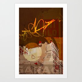 NYC Rooftops Art Print