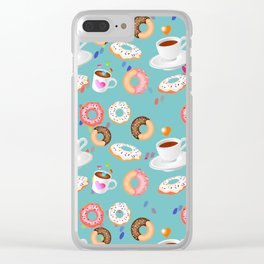 Coffee and Doughnuts Clear iPhone Case
