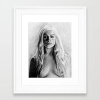 daenerys Framed Art Prints featuring Stormborn by apostatemages