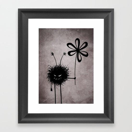 Evil Flower Bug Framed Art Print