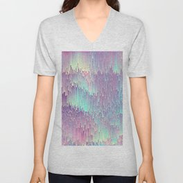 Iridescent Glitches Unisex V-Neck