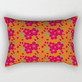 Autumn Blossom Rectangular Pillow
