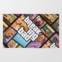 gta Area & Throw Rugs featuring Breaking Bad: GTA  by Messypandas