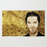 cumberbatch Area & Throw Rugs featuring Portrait of Benedict Cumberbatch by André Joseph Martin