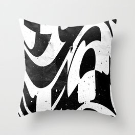 Experimantal typography Throw Pillow