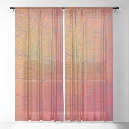 Auric Waves Sheer Curtain