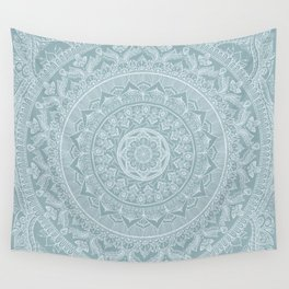 Mandala - Soft turquoise Wall Tapestry